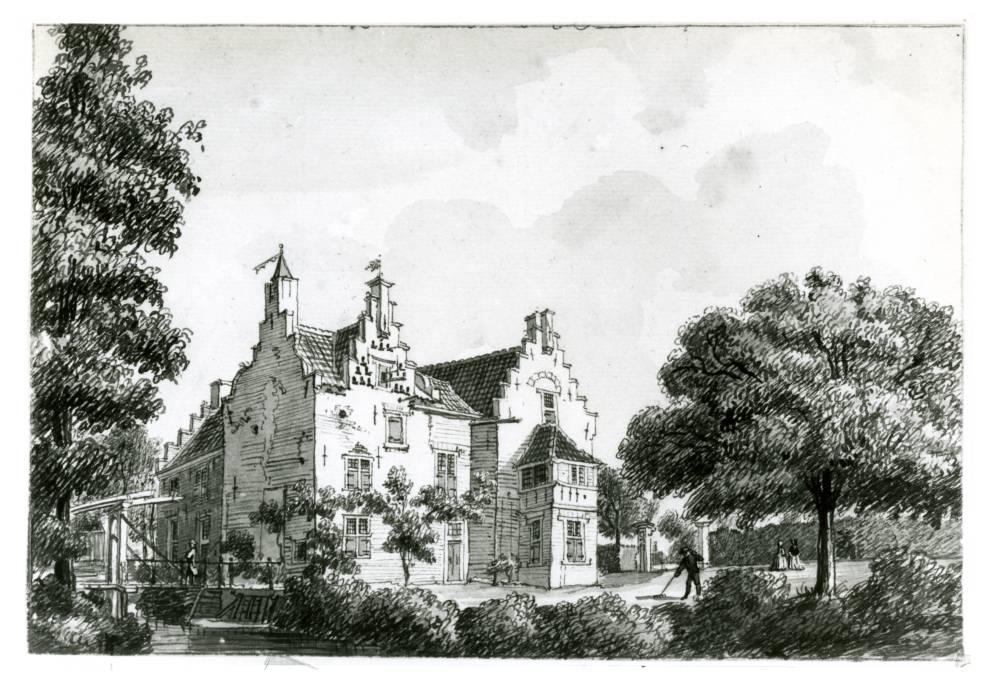 Heimerstein in Rhenen. Tekening Jan de Beijer, 1750